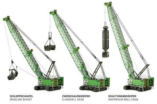 Picture of Sennebogen 6140 diaphragm wall grab