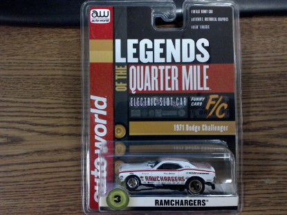 Picture of Electric Racing Slot Car -1971 Dodge Challenger RAMCHARGERS