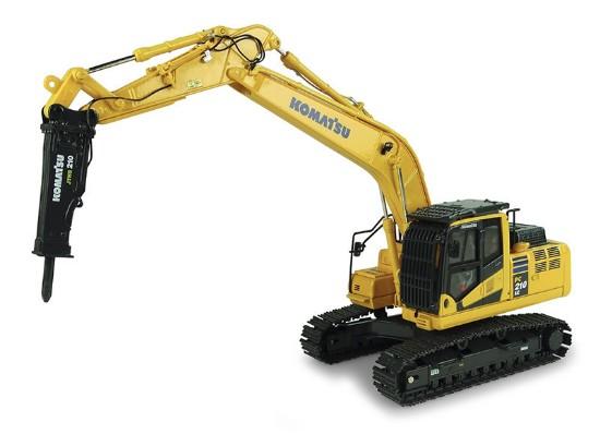 Picture of Komatsu PC210 LCi-11 track excavator with drill