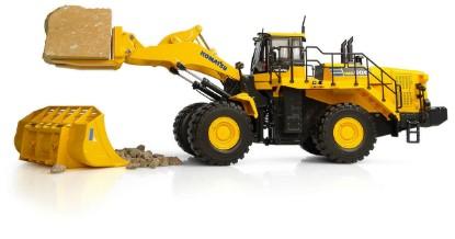 Picture of Komatsu WA600-8 wheel loader with stone handler