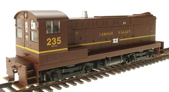 Picture of Baldwin Switcher S-12; Powered -- Lehigh Valley #235 (tuscan)