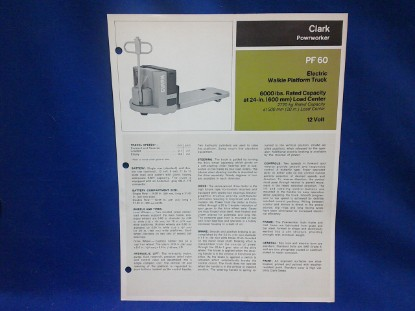 Picture of Clark PF60  spec sheet