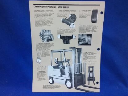 Picture of Clark Diesel Option Package  spec sheet