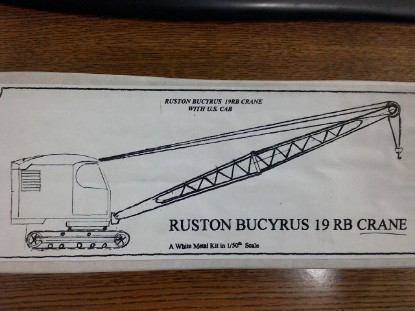 Picture of Bucyrus-Erie 19B crane or Ruston-Bucyrus new cab kit