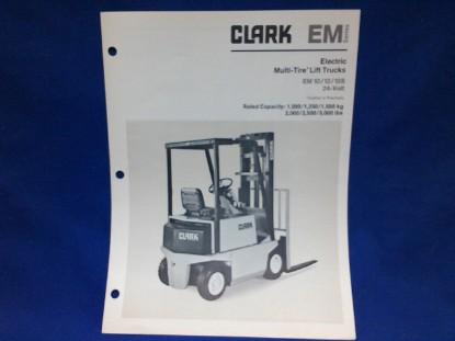 Picture of Clark EM spec sheet