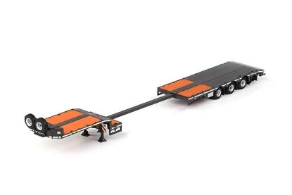 Picture of Lowboy flatbed trailer  3 axle