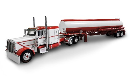 Picture of Peterbilt  389 w/Heil tank trailer - red/white
