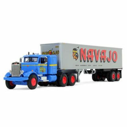 Picture of Peterbilt  351 sleeper with 40' vintage van trailer - NAVAJO