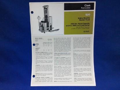 Picture of Clark Powrworker S20  spec sheet