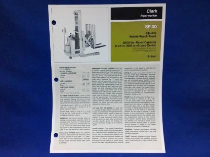 Picture of Clark Powrworker SP 30  spec sheet