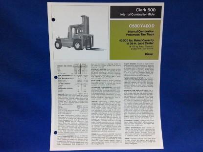 Picture of SLClarkc500 Y 400D  spec sheet